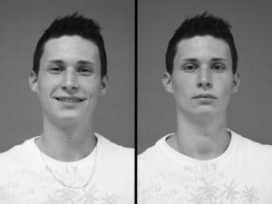 Portrait eines Bogenschützen vor und nach dem Training