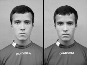 Portrait eines Ruderers vor und nach dem Training