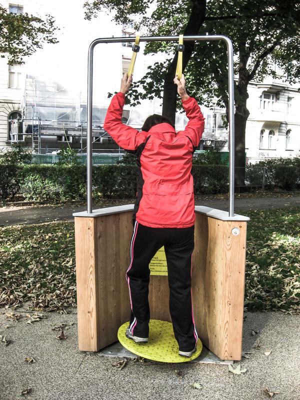 Wackelbrett im Seniorenpark Wien Rossau