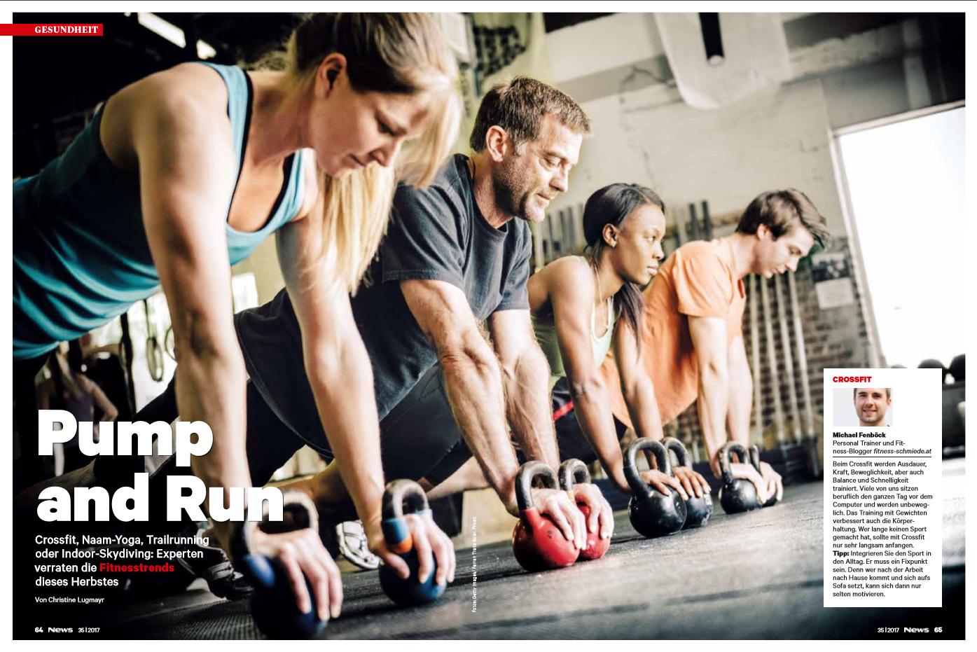 Bloggerin und Fitness-Trainerin Bernadette Hörner gibt im News-Heft 35-2017 neben anderen Experten Tipps für Herbst-Sportarten