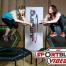 Bernadette Hörner und Barbara Tryfoniuk in einem Jumping Fitness Trampolin Kurs