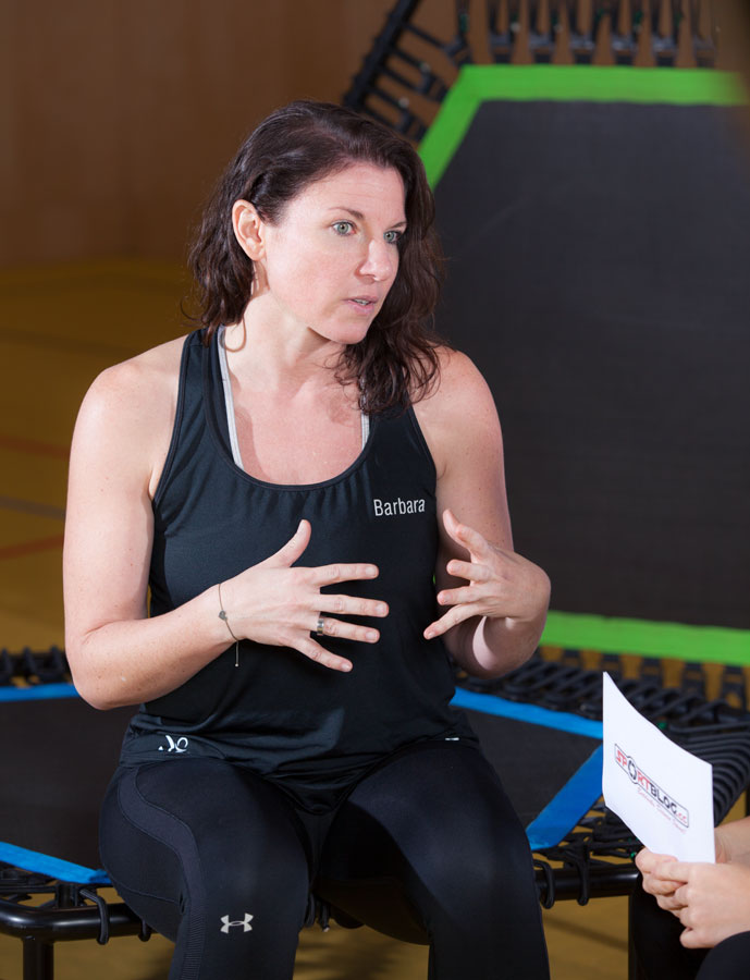 Fitness-Coach Barbara Tryfoniuk beim Gespräch mit sportblog.cc