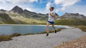 Österreichischer Langstreckenläufer Christoph Sander in den Bergen