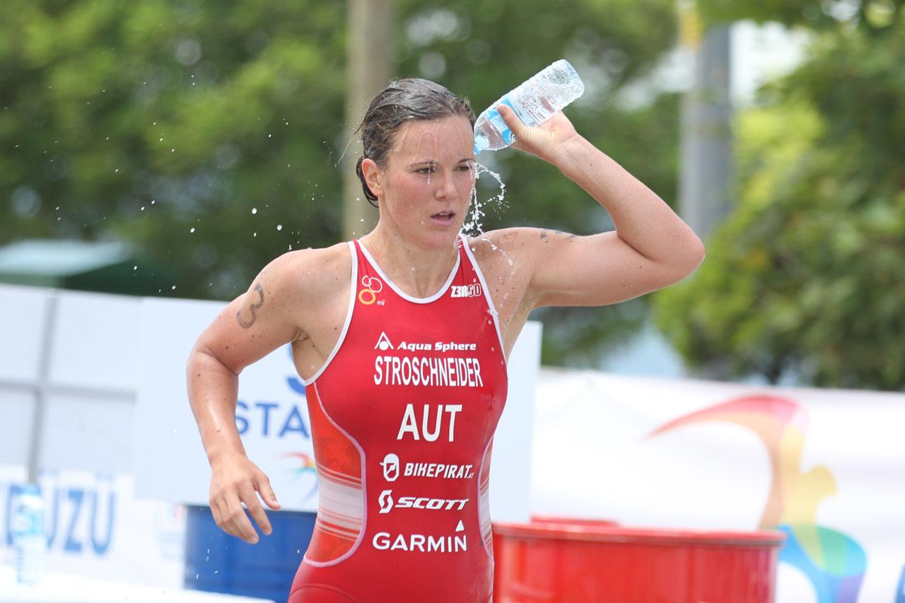 Österreichische Triathletin Tanja Stroschneider