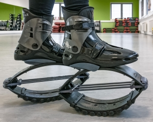 Nahaufnahme von Kangoo Jumps Rebound Boots. Ort: Bodyzone Deutsch Wagram bei Wien.
